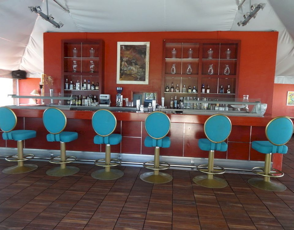red restaurant classroom Bar tiled