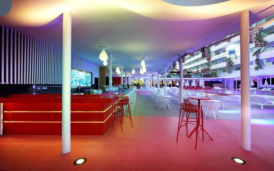 red lighting function hall restaurant convention center Bar