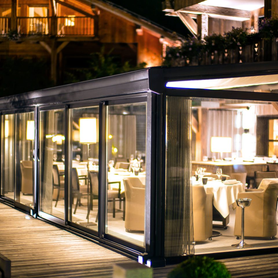 Country Dining Drink Eat Luxury restaurant platform lighting Bar home Lobby outdoor structure night subway