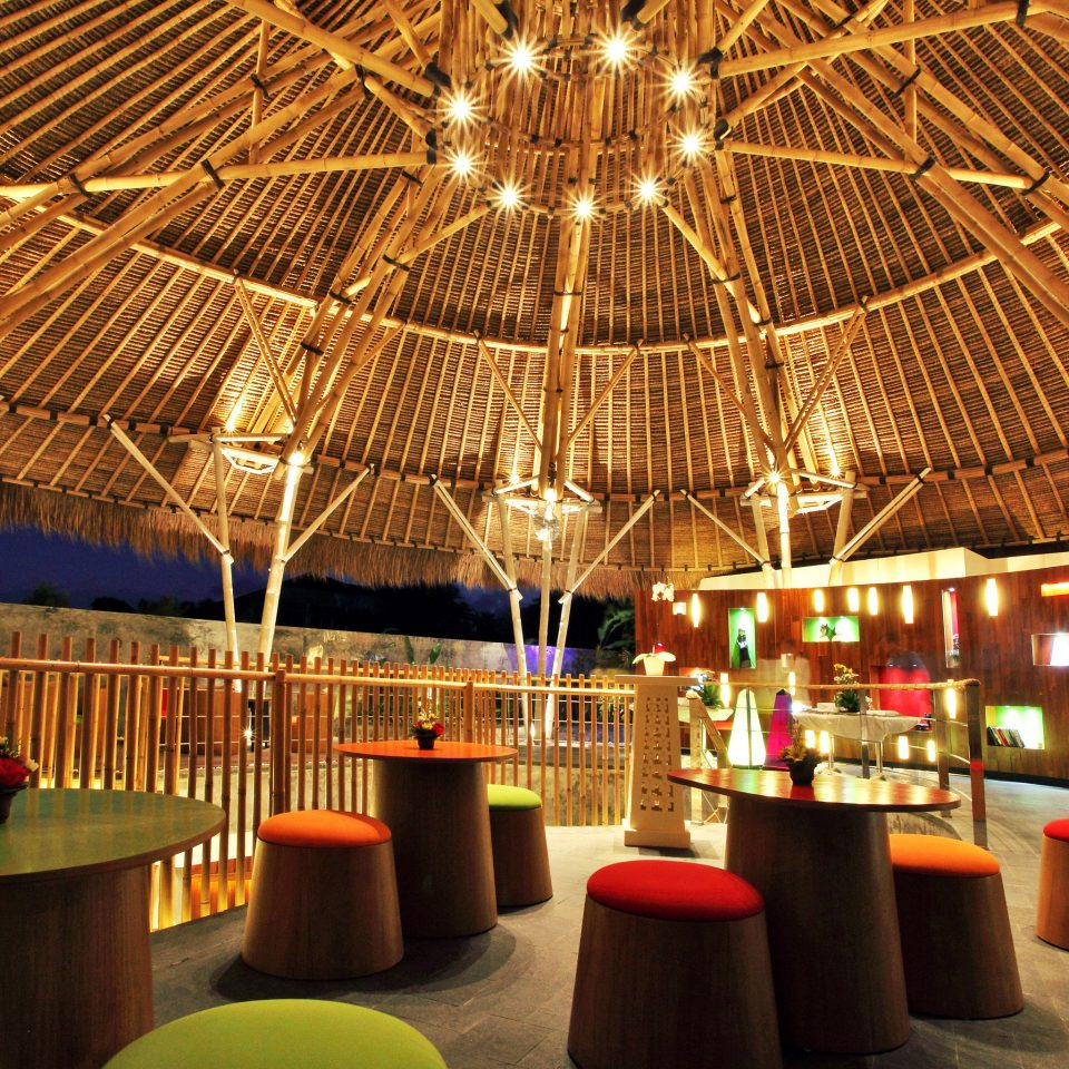 Bar Cultural Deck Dining Drink Eat Eco Elegant Jungle Modern Outdoors Resort function hall restaurant orange