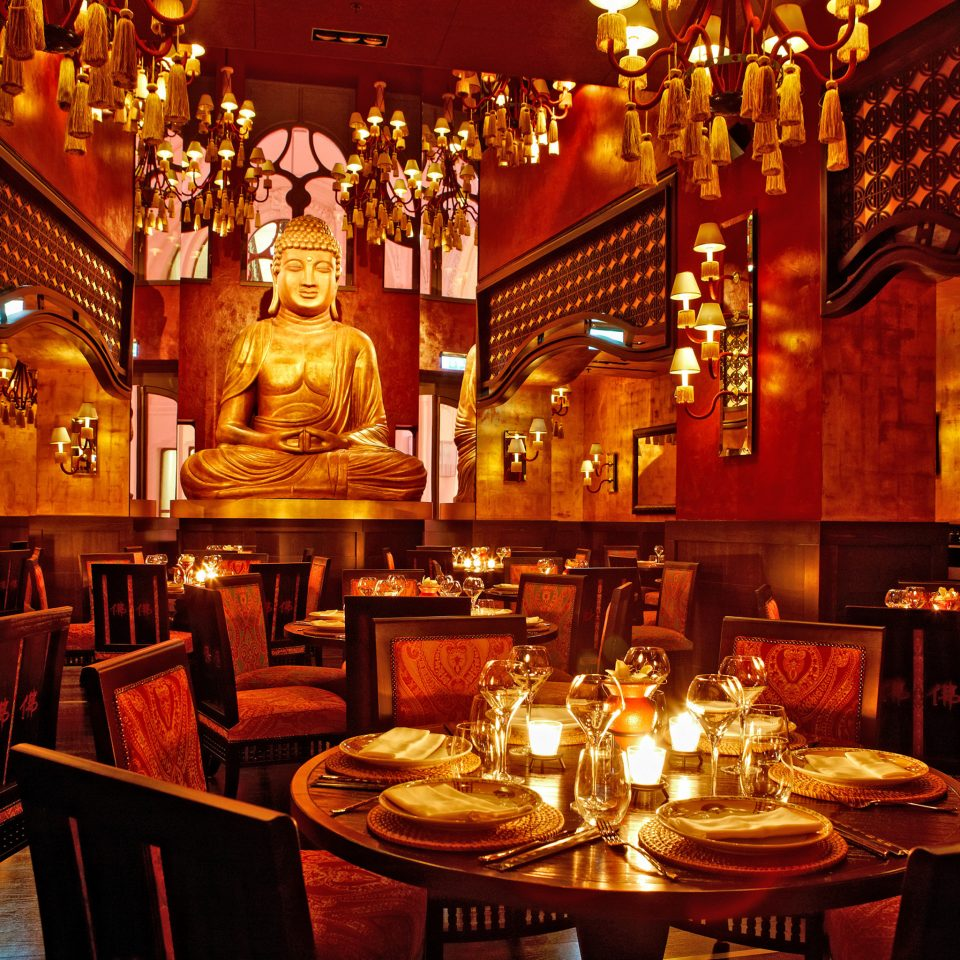 Cultural Dining Drink Eat Modern restaurant Bar dinner set dining table