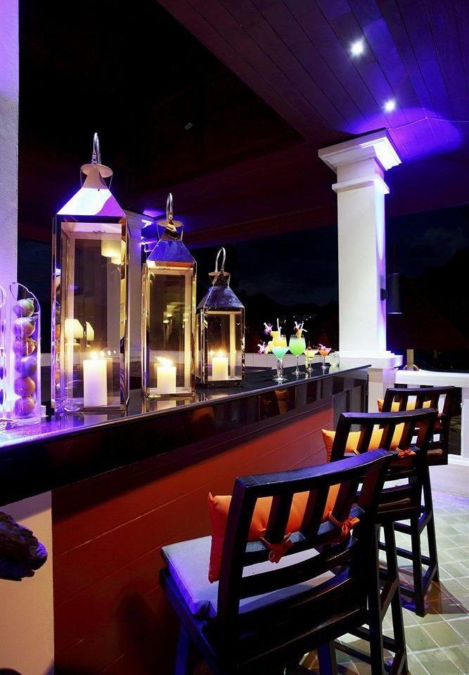 Bar restaurant lighting dark
