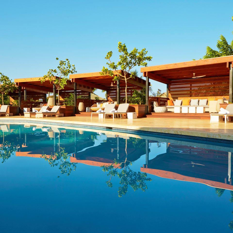 Bar Deck Drink Island Modern Patio Pool Scenic views tree sky swimming pool leisure Resort property house home Villa