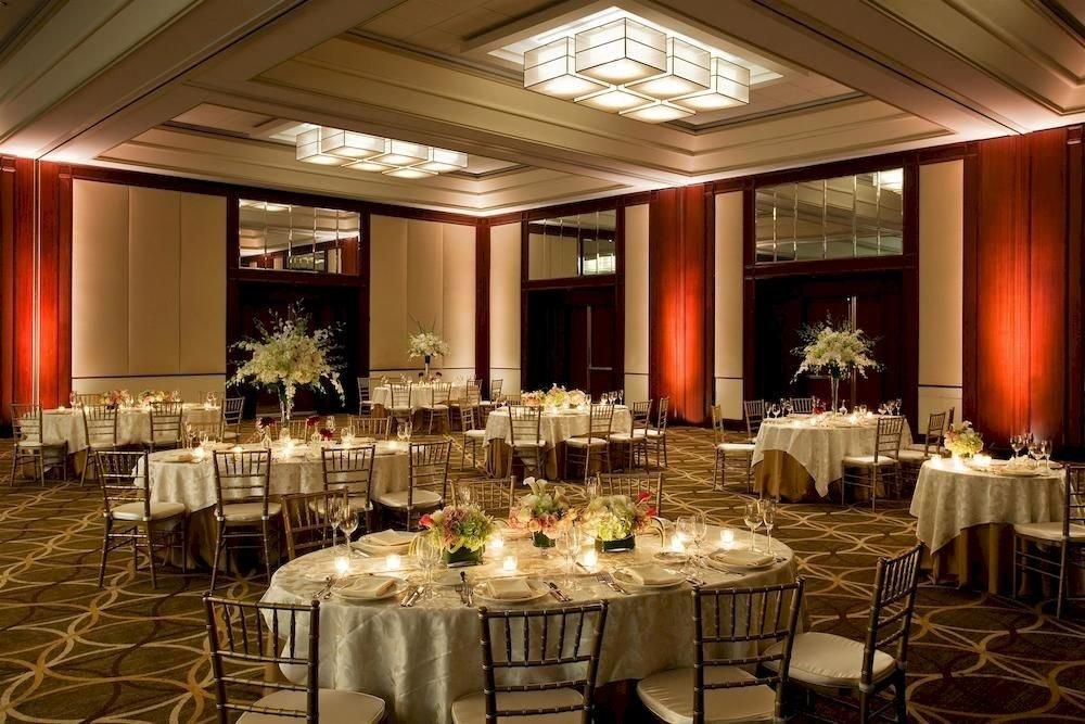 chair function hall Dining banquet ballroom restaurant wedding wedding reception ceremony convention center conference hall fancy set Bar