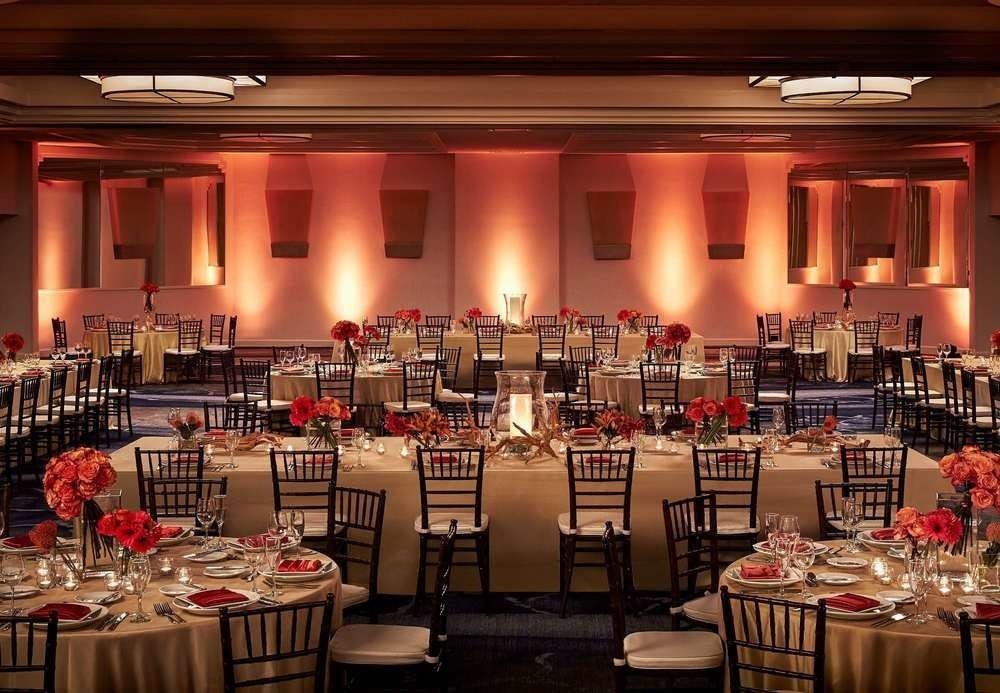 function hall Dining banquet scene ballroom wedding reception convention center set Bar restaurant