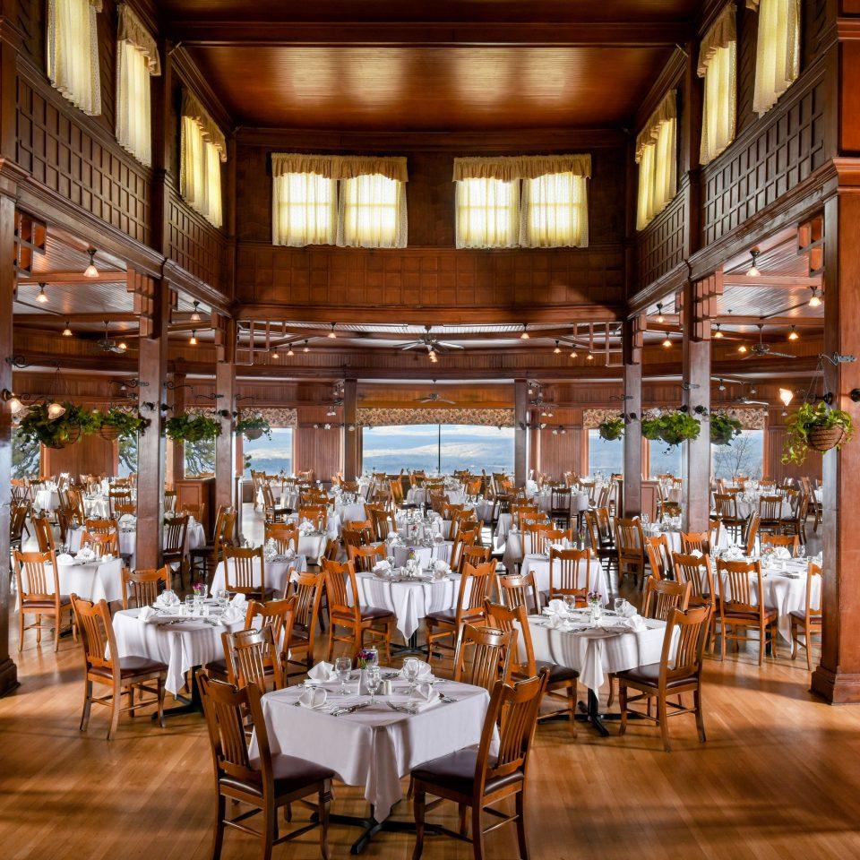 chair Dining function hall restaurant scene ceremony wedding reception ballroom set Bar