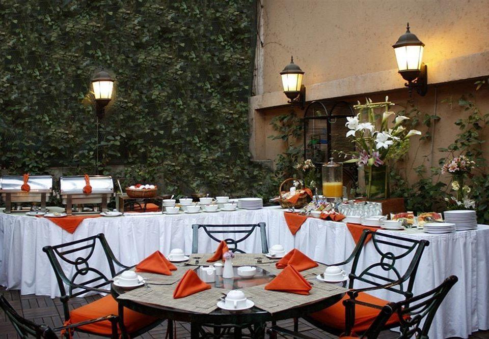 chair restaurant orange banquet Dining function hall dinner set Bar dining table