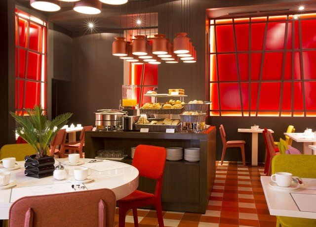 restaurant red Dining function hall café Bar buffet dining table