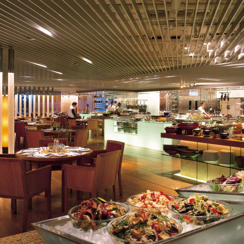 restaurant buffet Dining food court set Bar