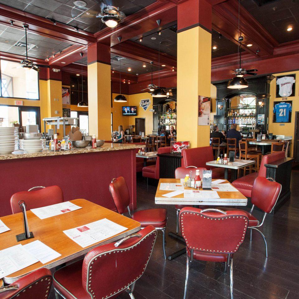 restaurant red café Dining Bar cafeteria fast food restaurant