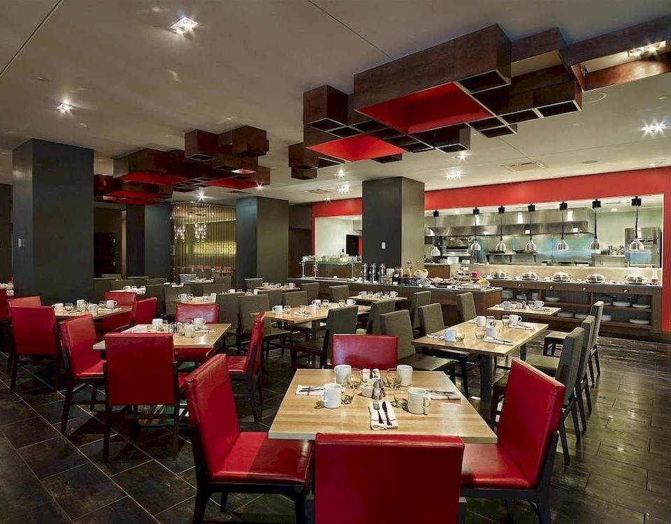chair red restaurant Dining café cafeteria Bar function hall food court