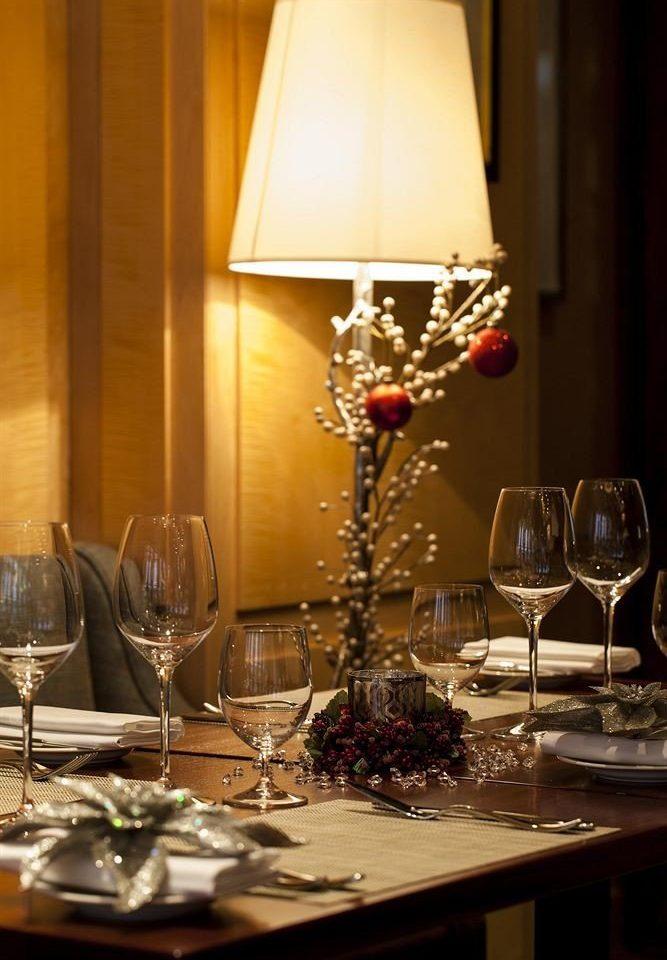 wine glasses Dining centrepiece glass lighting restaurant light fixture set dinner Bar