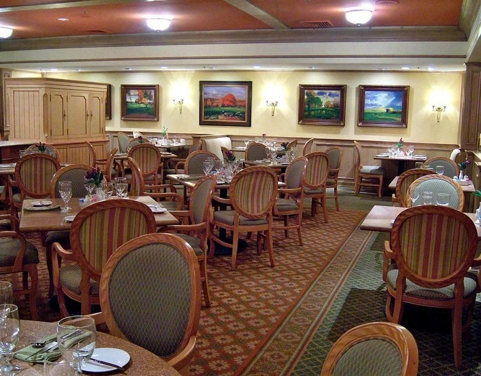 chair Dining restaurant function hall Bar set dining table