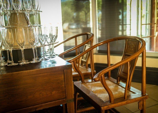 chair Dining wooden restaurant dining table glass Bar