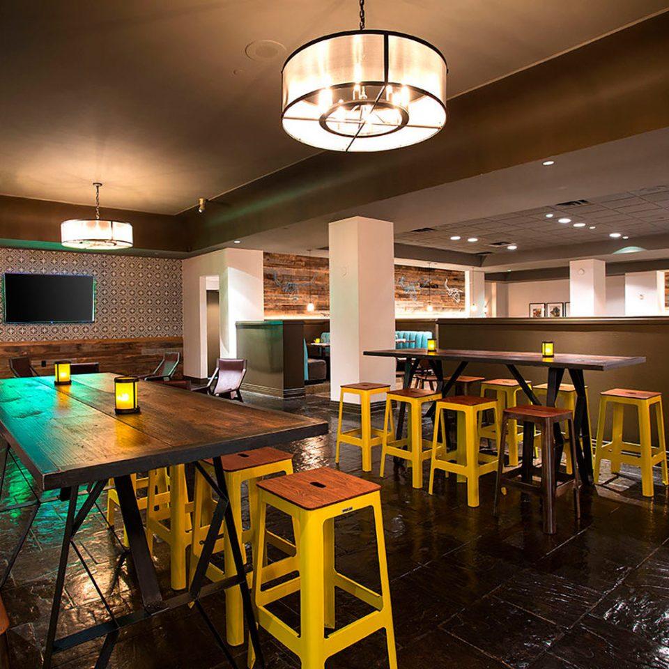chair Bar restaurant recreation room lighting Dining