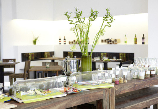 wine restaurant floristry counter Dining dining table Bar