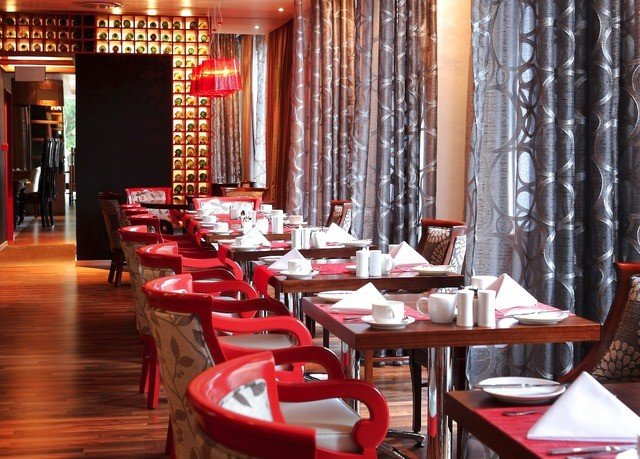 restaurant red function hall Dining Bar dining table