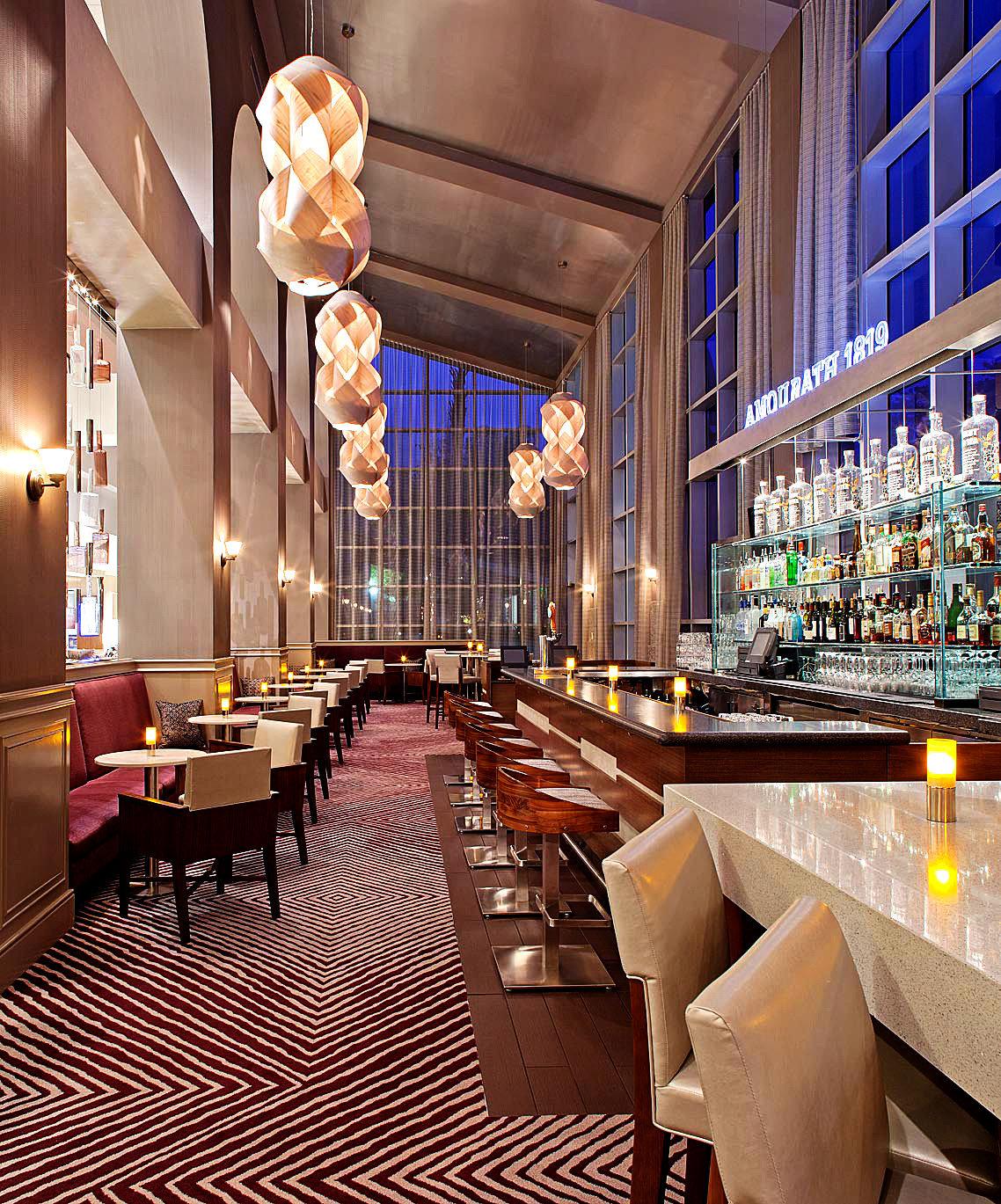 Bar Dining Drink Eat Hip Modern building Lobby restaurant function hall convention center
