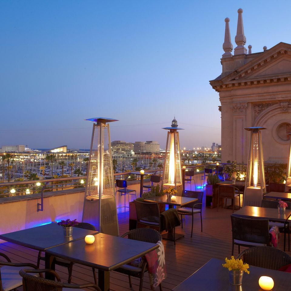 Bar Dining Drink Eat Elegant Hip Luxury sky landmark palace evening