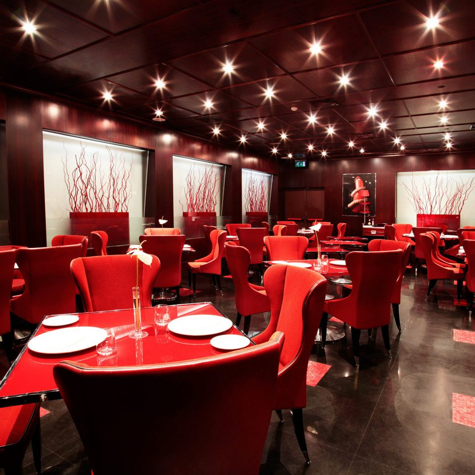 Bar Dining Drink Eat Elegant Hip Luxury Modern Nightlife red conference hall function hall restaurant