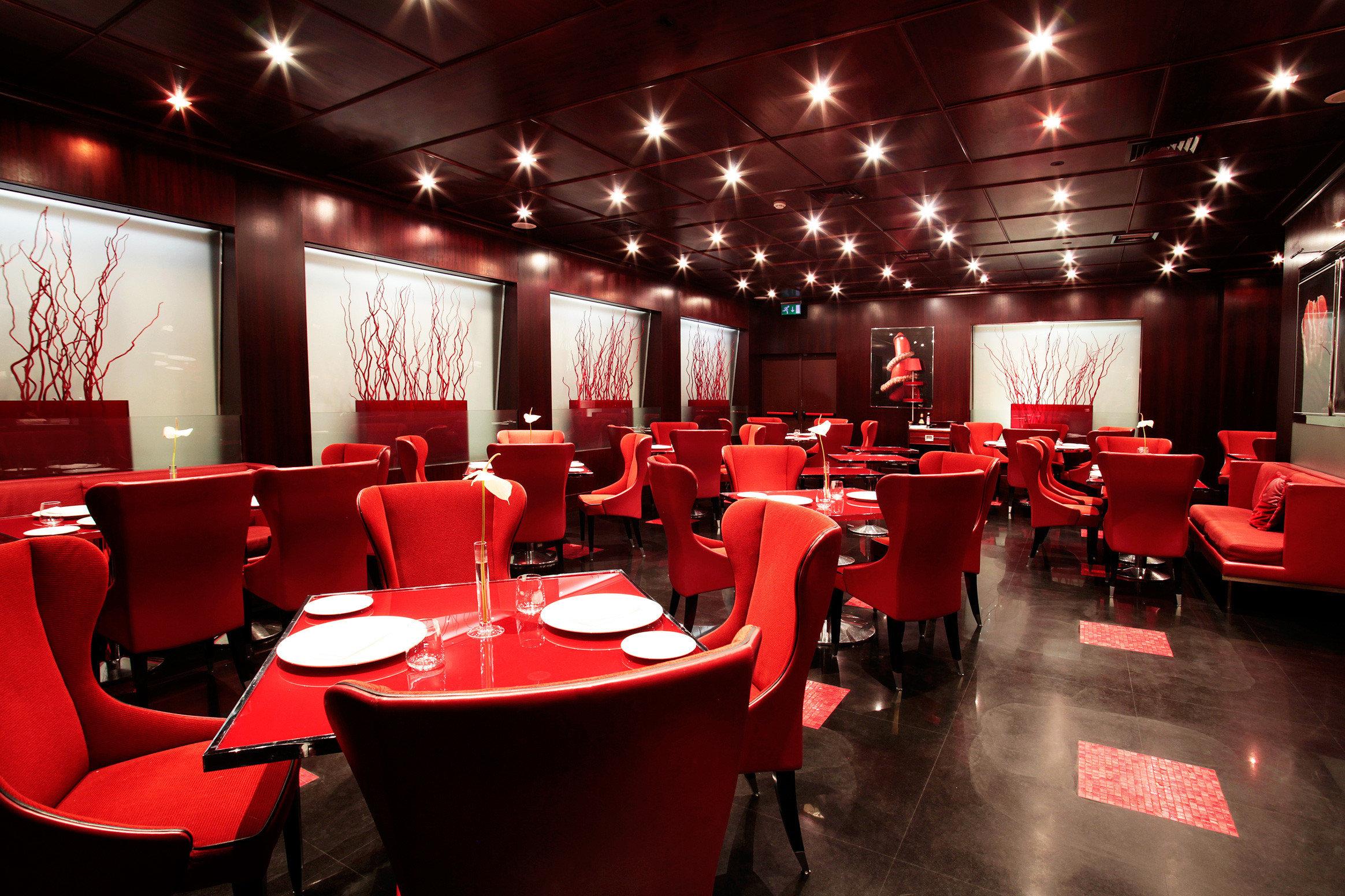 Bar Dining Drink Eat Elegant Hip Luxury Modern Nightlife red conference hall function hall restaurant