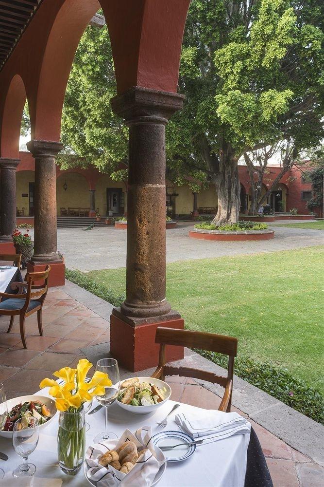 Bar Dining Drink Eat Hip Luxury grass tree Garden flower restaurant shrine porch