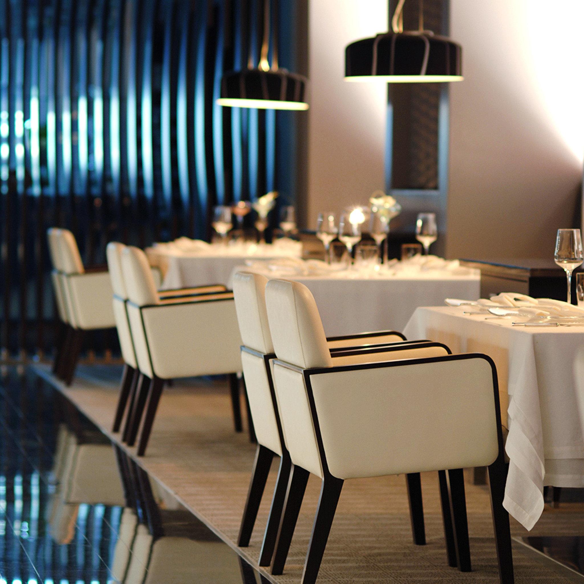 Bar Dining Drink Eat Elegant Hip Luxury Modern Scenic views chair restaurant function hall set dining table
