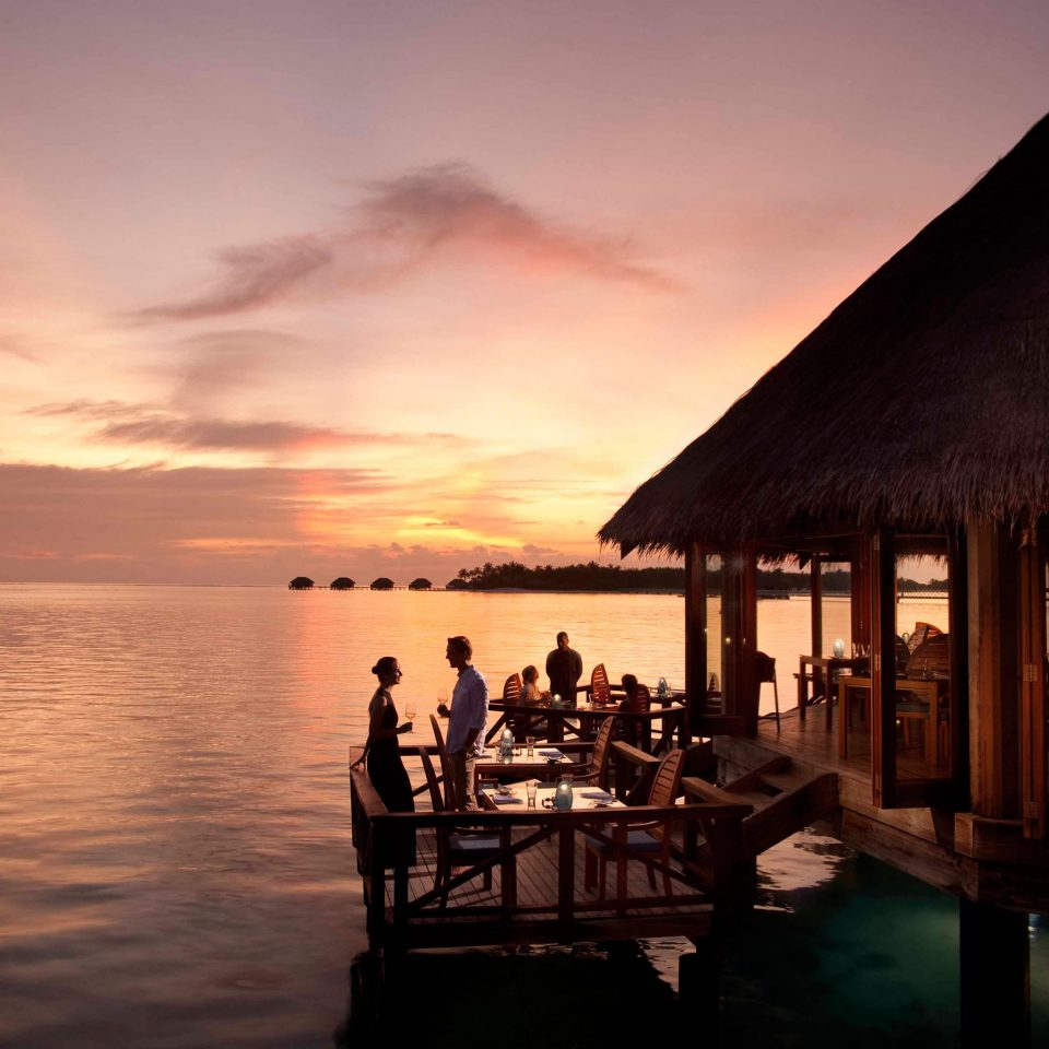 Bar Dining Drink Eat Elegant Entertainment Hotels Natural wonders Ocean Scenic views Trip Ideas Wildlife sky water Sunset Sea evening dusk morning dawn sunrise shore