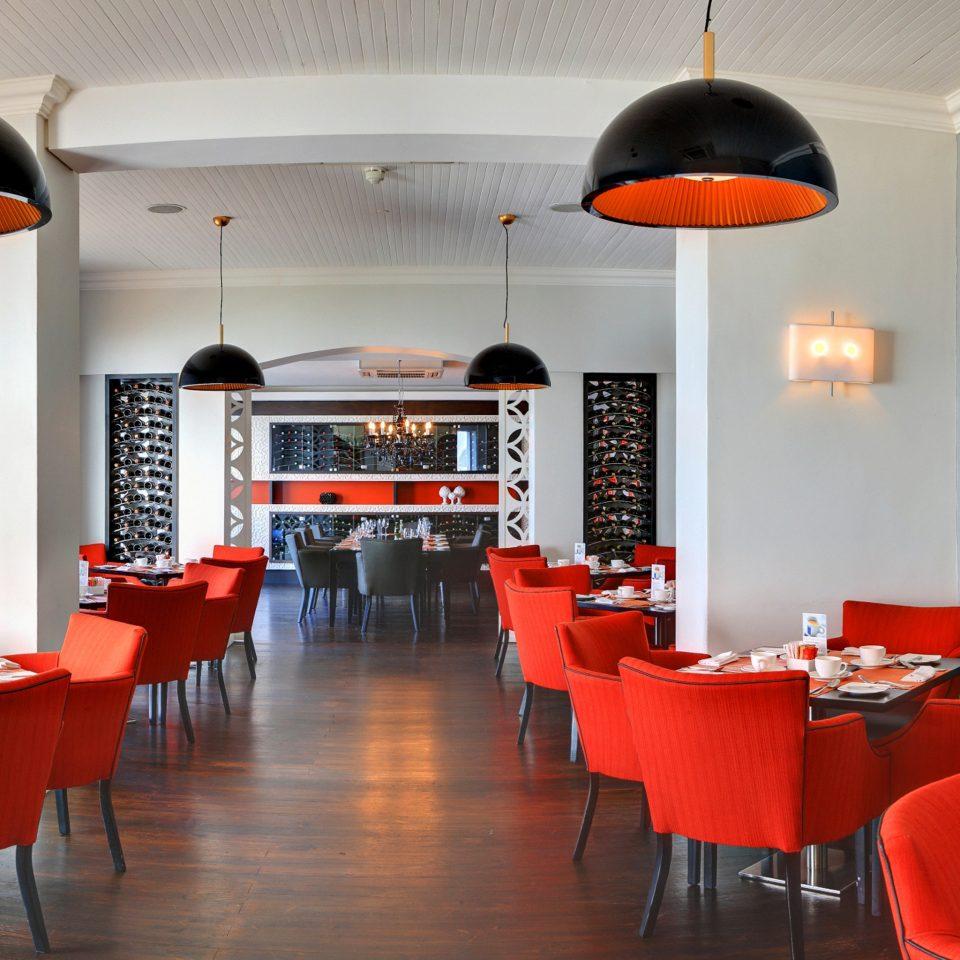 Bar Dining Drink Eat Hip Modern chair red restaurant home orange cottage dining table