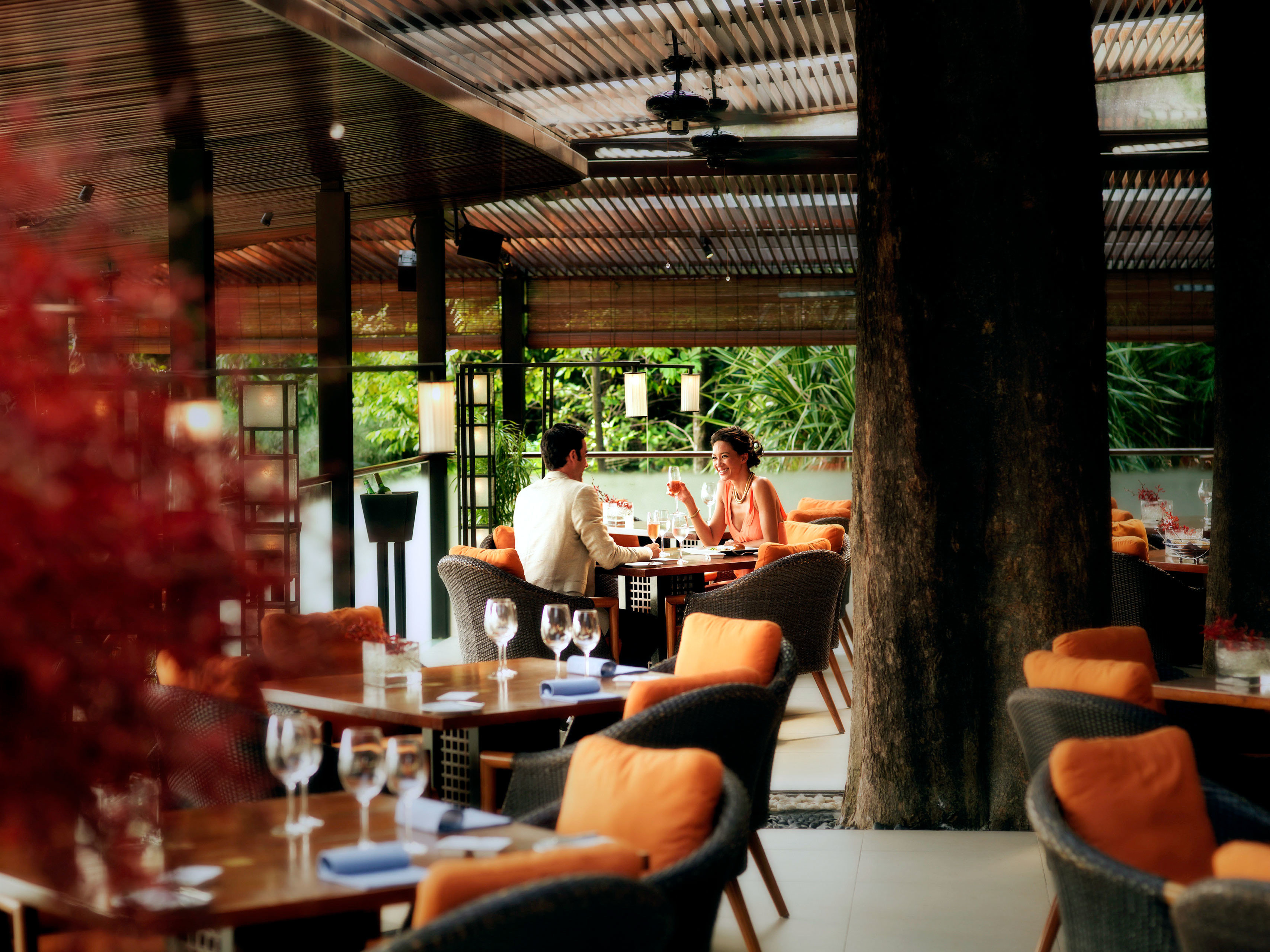 Dining Drink Eat Forest Golf Island Jungle Outdoors Scenic views Spa restaurant Bar dining table