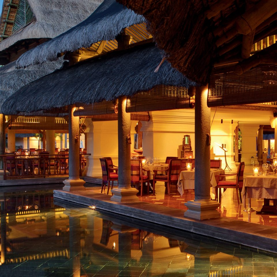 Dining Drink Eat Family Honeymoon Resort Romance Romantic Tropical Waterfront building restaurant evening Bar long