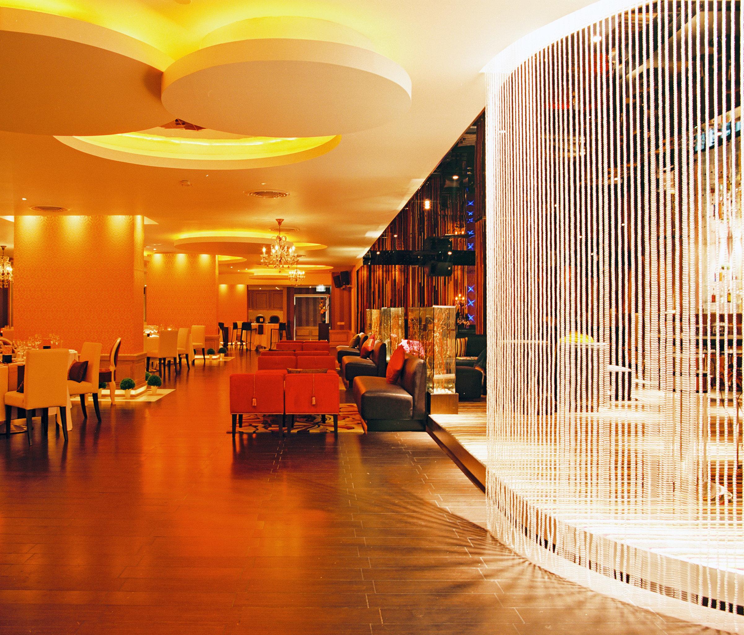 Bar Dining Drink Eat Hip Modern light night lighting Lobby restaurant