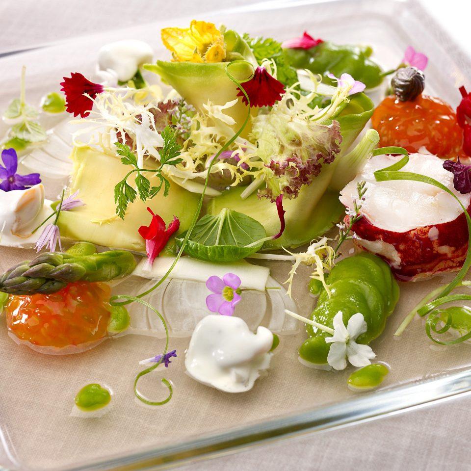 Bar Dining Drink Eat Elegant food flower arranging salad floristry hors d oeuvre cuisine flower floral design vegetable fresh arranged