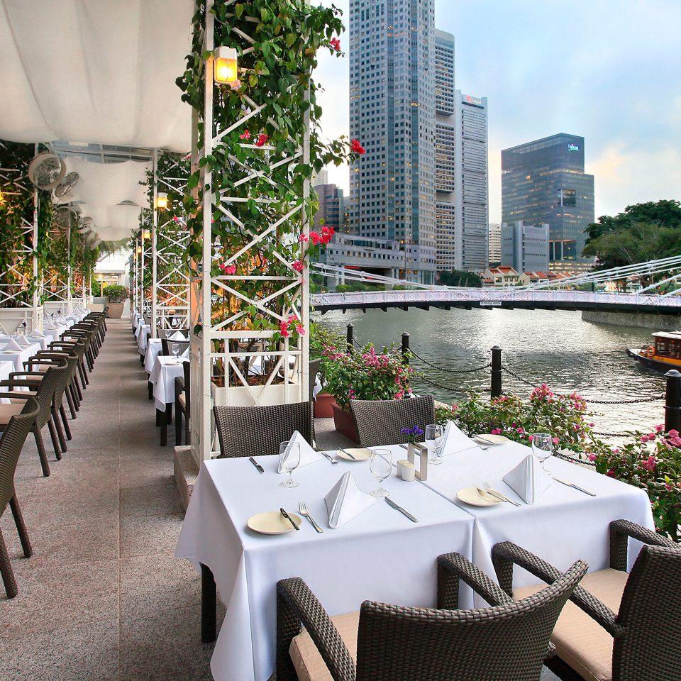 Bar Dining Drink Eat Hip Modern Romantic tree chair restaurant Resort flower set