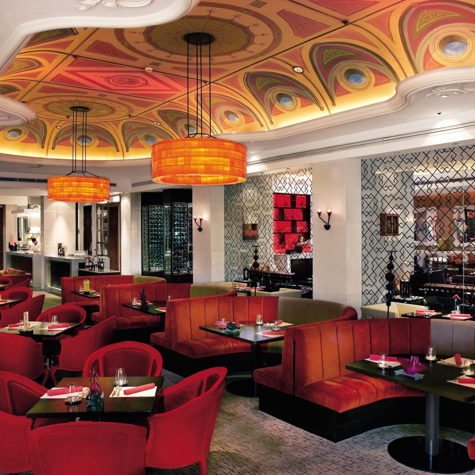 Bar Dining Drink Eat Modern Lobby red restaurant function hall living room café
