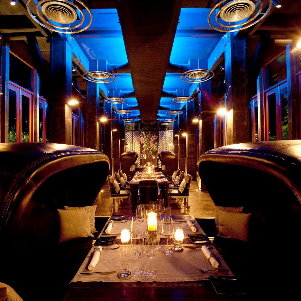 Bar Dining Drink Eat Hip Lounge Luxury Modern Nightlife Romantic night candle lighting lit