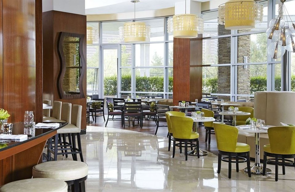 Bar Dining Drink Eat Hip Modern chair restaurant property cafeteria condominium Lobby function hall café dining table
