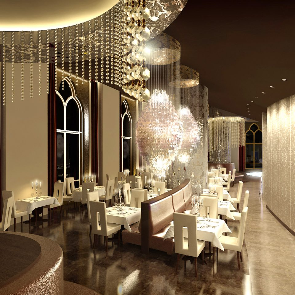 Bar Dining Drink Eat Elegant Luxury Modern Lobby function hall lighting restaurant ballroom