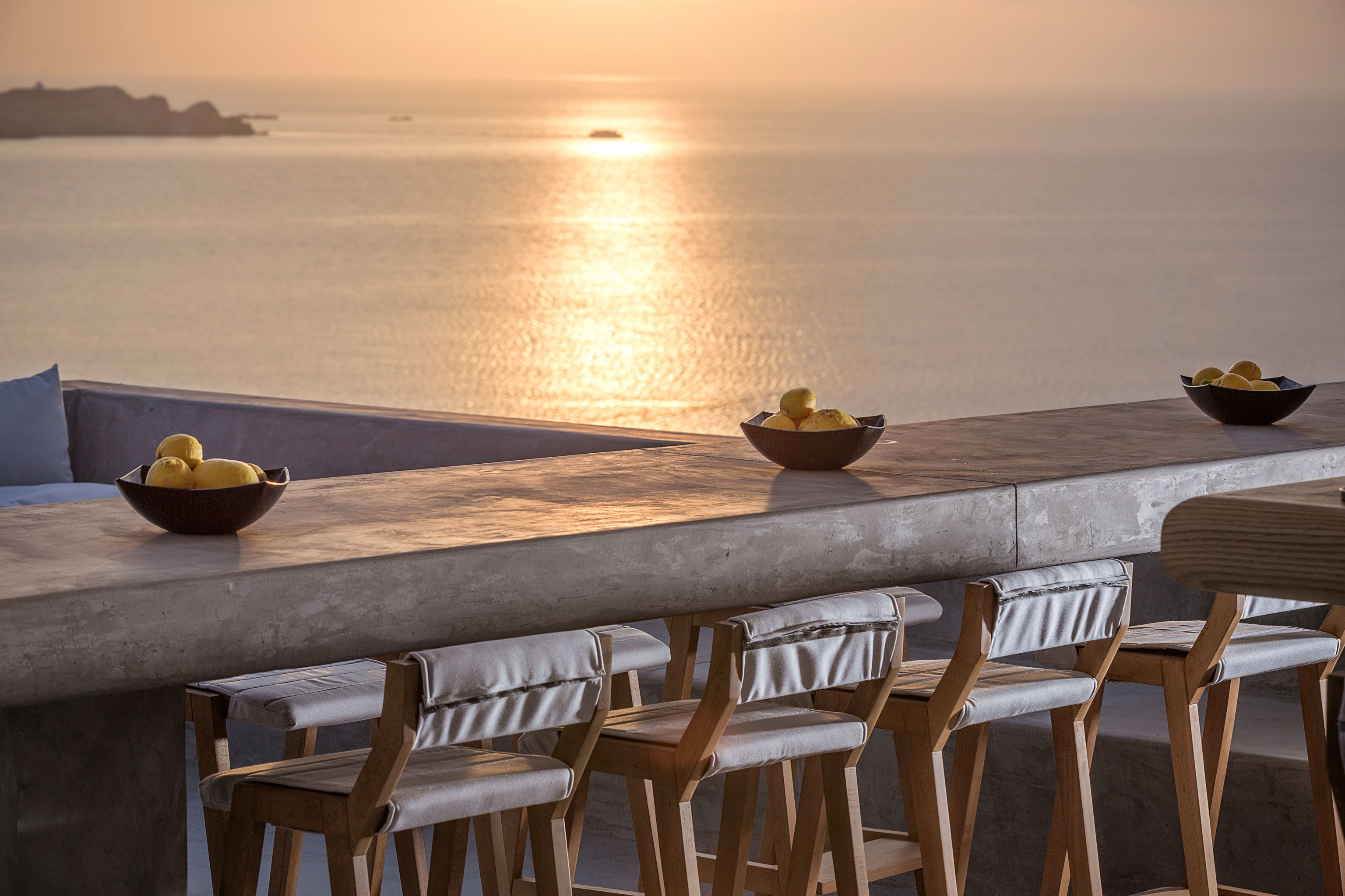 Bar Dining Drink Eat Luxury Ocean Scenic views Trip Ideas water chair wooden restaurant dining table