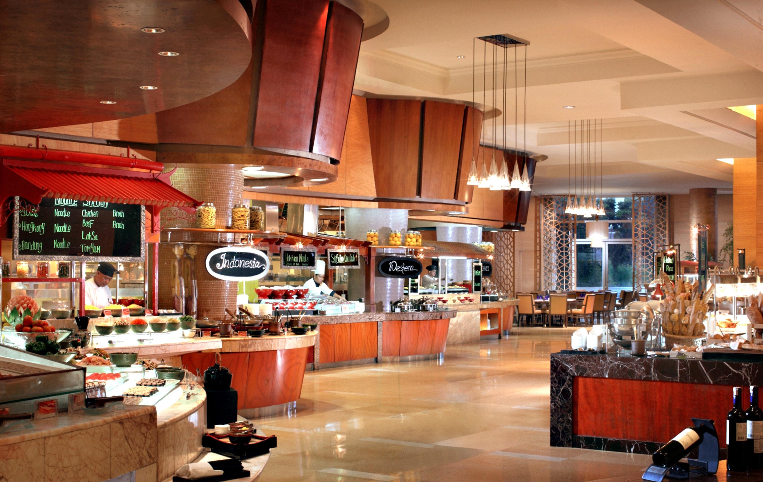 Bar Dining Drink Eat Elegant Hip Luxury Modern Kitchen restaurant counter café food court fast food restaurant cafeteria food Island