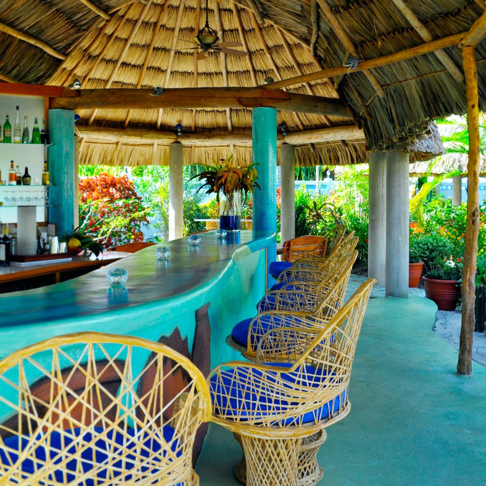 Bar Dining Drink Eat leisure chair swimming pool Resort blue amusement park Water park restaurant colorful