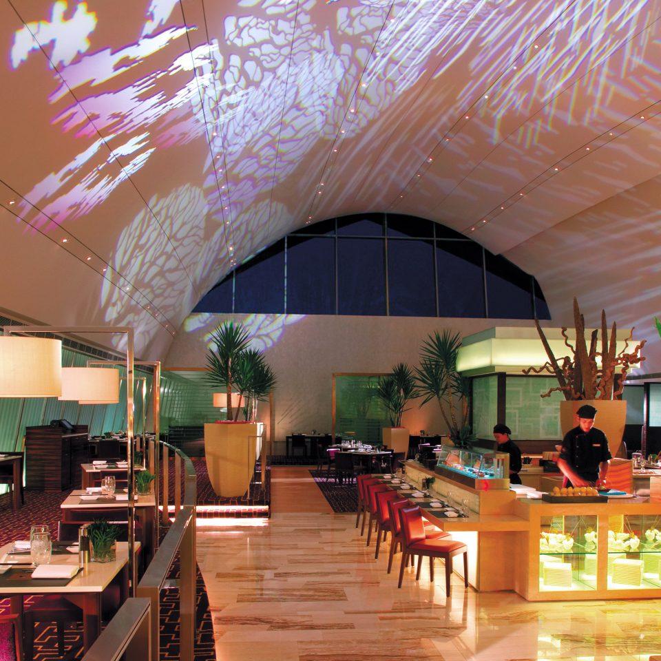 Bar Drink Eat Modern Lobby restaurant Resort function hall Dining convention center Island