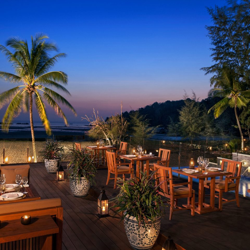 Bar Dining Drink Eat Scenic views tree Resort restaurant home arecales palm Villa plant Garden surrounded