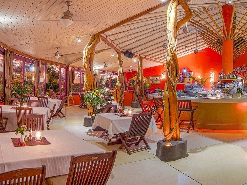 Bar Dining Drink Eat Luxury Modern Tropical chair restaurant Resort function hall Lobby buffet orange set