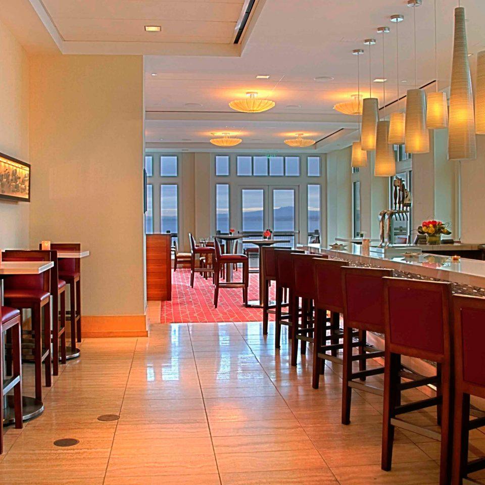 Bar Dining Drink Eat Modern chair restaurant scene café cafeteria function hall Island