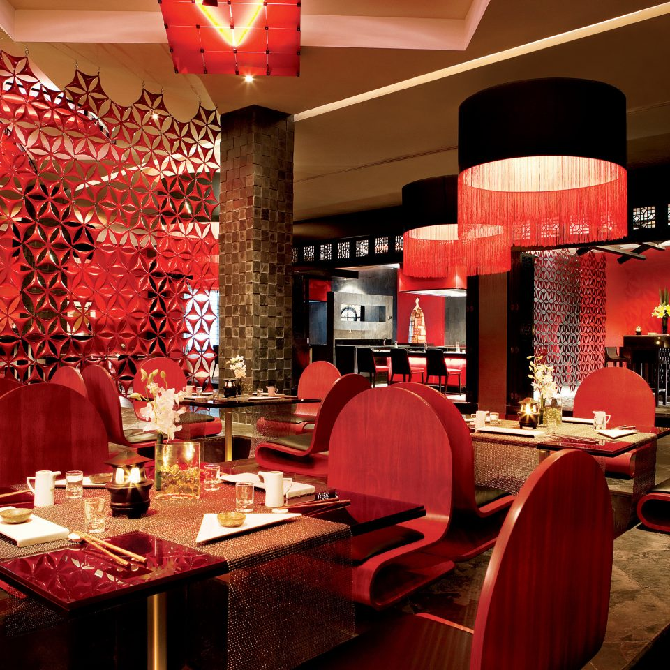 Bar Dining Drink Eat Elegant Luxury Modern red restaurant function hall Lobby