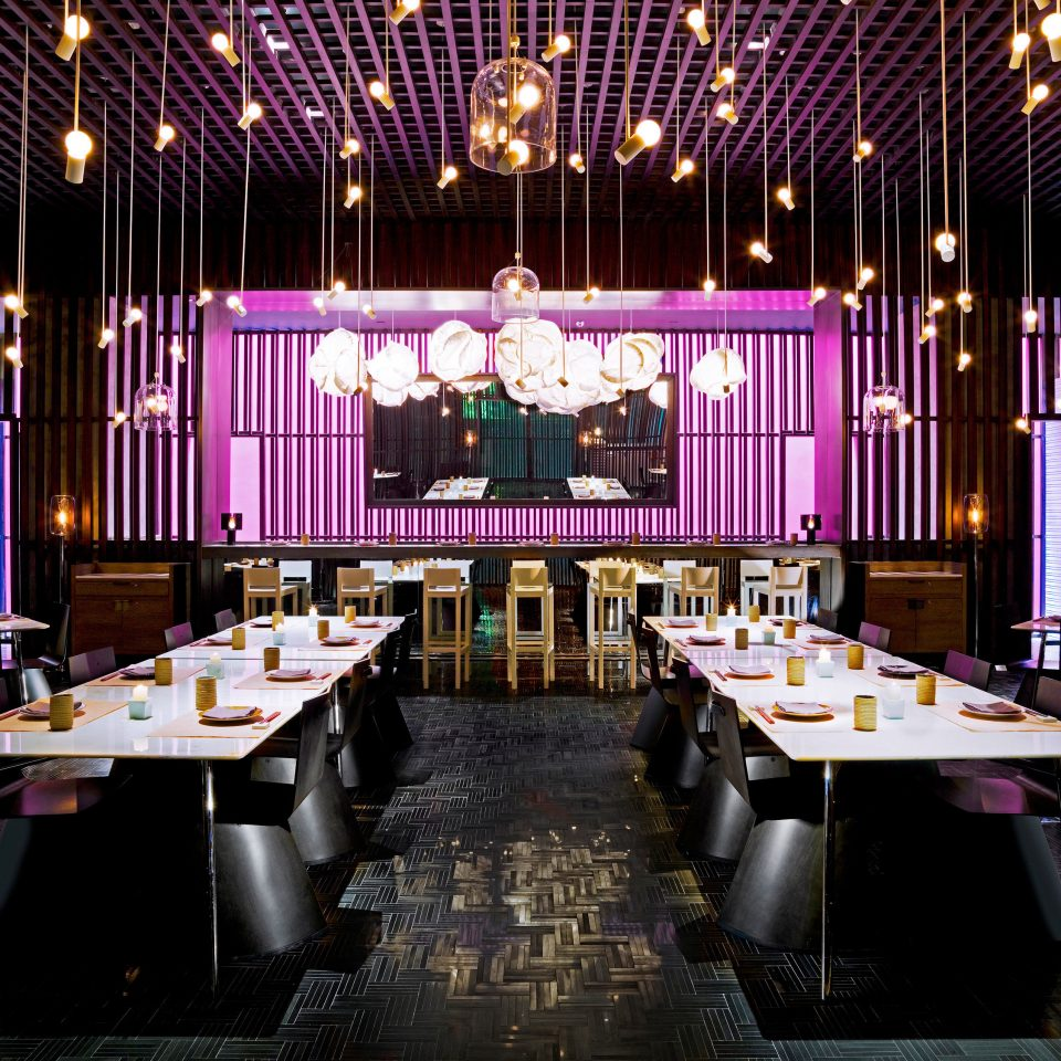 Bar Dining Drink Eat Modern function hall auditorium stage ballroom conference hall convention center theatre restaurant colored