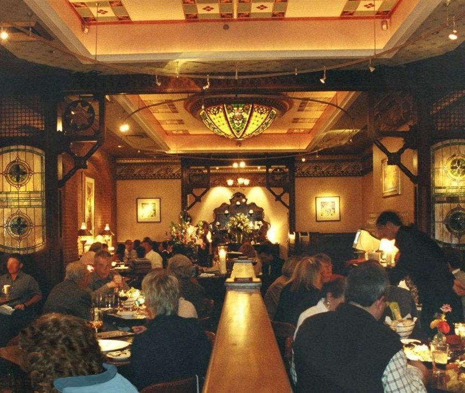 Bar Dining Drink Eat Historic Resort restaurant group function hall dinner seated