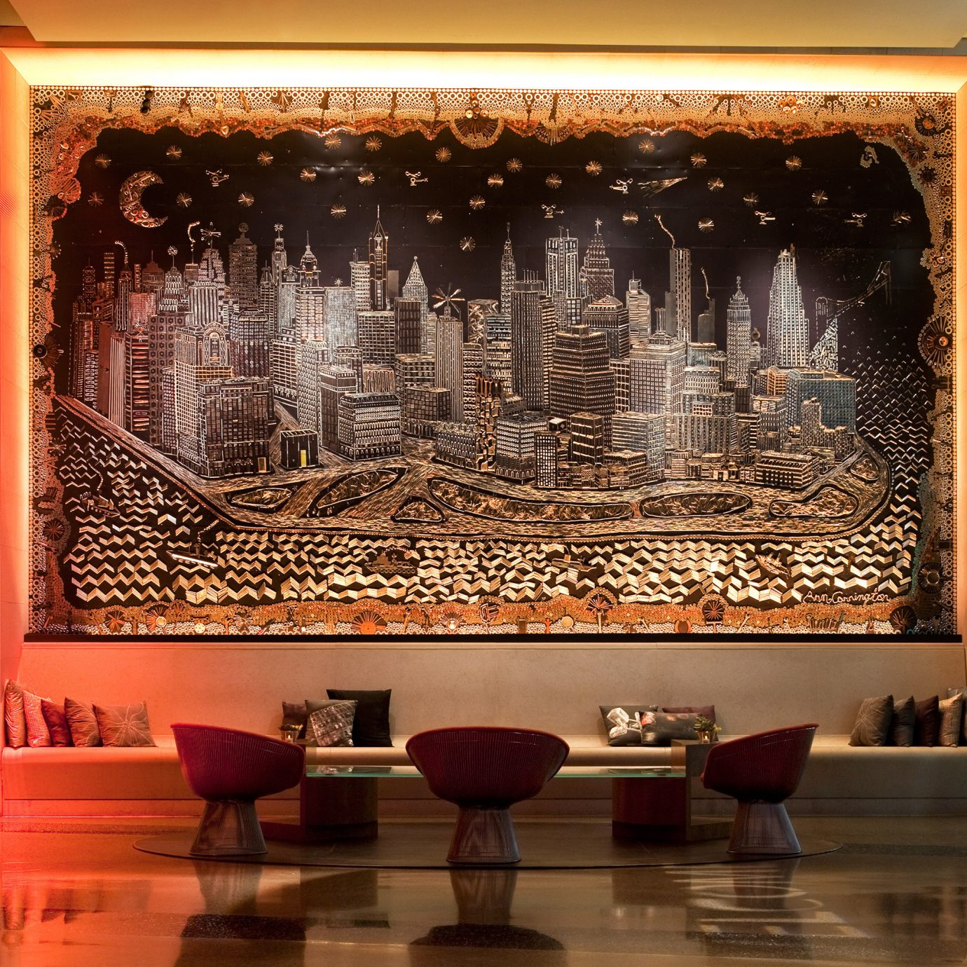 Dining Drink Eat Lounge Luxury Modern Lobby Fireplace tourist attraction display window Bar living room