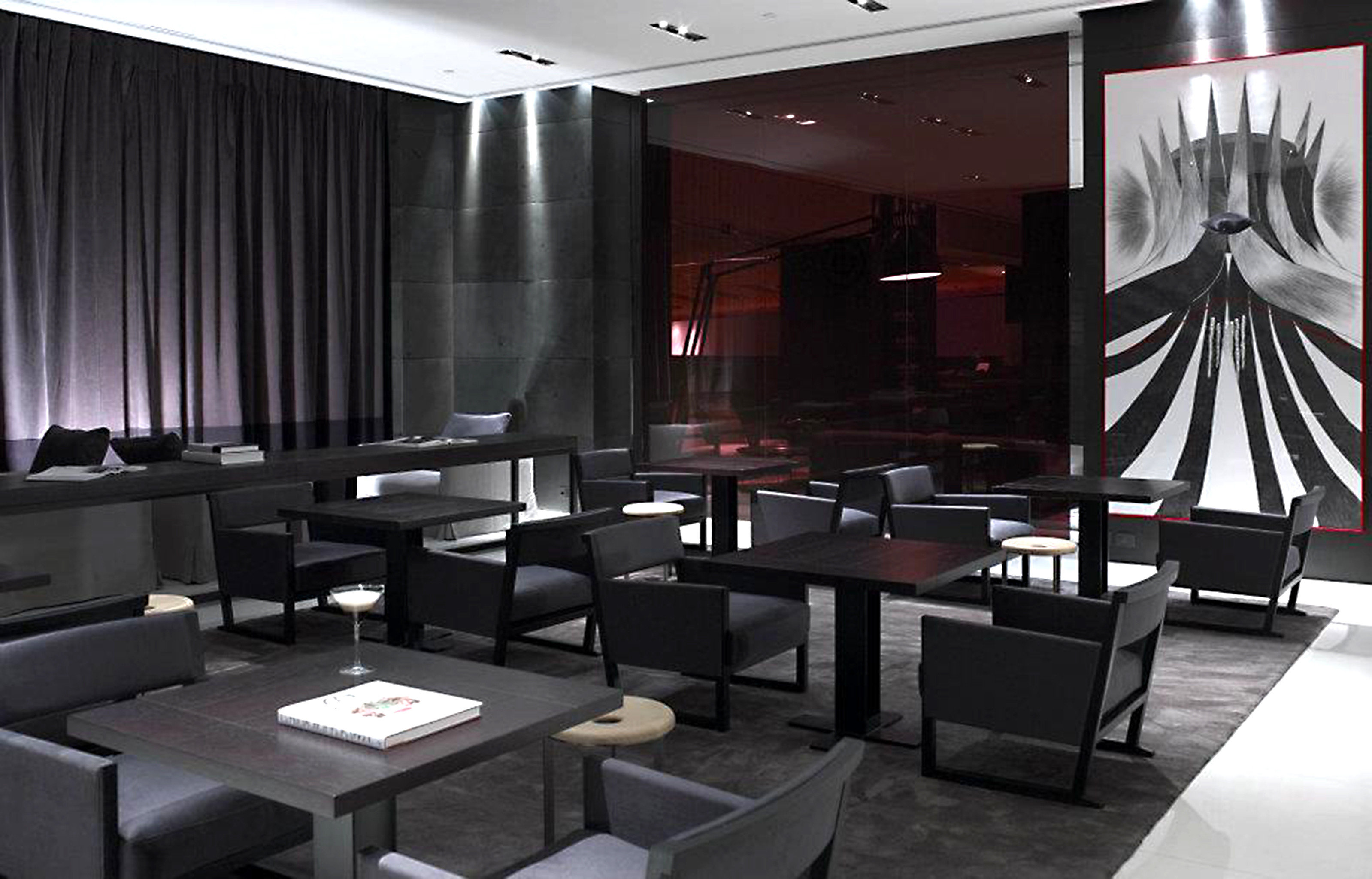 Bar Dining Drink Eat Hip Luxury conference hall auditorium function hall convention center Lobby restaurant